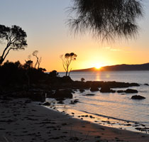 Sunset on Hawley Beach, Tasmania