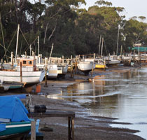 The boat docks at Panatana Rivulet, Port Sorell