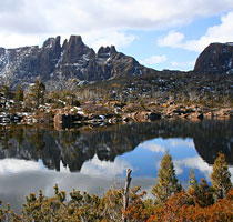 Central Highland lake at Cradle Mountain National Park,Tasmania