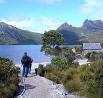 Dove Lake at Cradle Mountain National Park, Tasmania