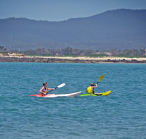 Kayakers enjoying the Rubicon Estuary, Tasmania