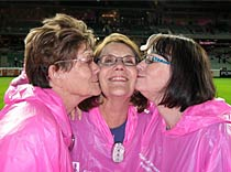 The 'three sisters' at Breast Cancer Network's 'The Field Of Women' at the MCG May 2010